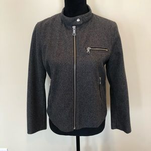 Gap grey Melton zipper closure jacket